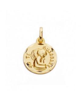 Medalla Bebé/Niño Oro Amarillo 18 ktesTamaño 16 mm Ángel de la Guarda Macizo - 000020686