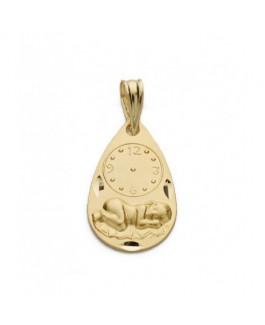 Medalla Bebé/Niño Oro Amarillo 18 ktes Tamaño 11 x 18 mm Niño Jesús Reloj Maciza - 000022436