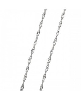Cadena Mujer Oro Blanco 18 ktes Medida 40 cm Singapur Maciza Reasa Grosor 1 mm - 000022551