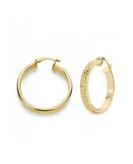 Pendientes Aros Mujer Oro 18 ktes VersacheTamaño 4 x 23 mm - 000022641