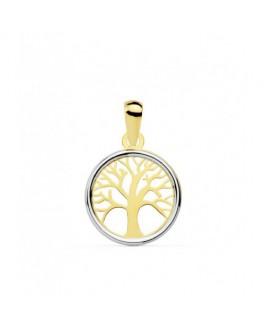 Colgante Árbol de la Vida Mujer Oro Bicolor 18 ktes Medida 12 mm - 000150777