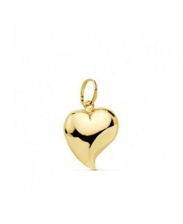 Corazón Colgante Mujer Oro 18 ktes Tamaño 10 mm Liso Brillo - 000150797