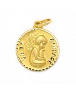 Medalla Bebé Niños Oro 18 ktes Ángel de la Guarda Tamaño 15 mm - 000207103