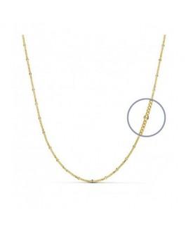 Cadena de Mujer Oro Amarillo 18 ktes Modelo italiano Maciza Reasa Medida 45 cm - 000262176