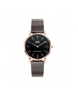 Mark Maddox MM7115-57 Reloj Mujer Cuarzo Acero IP negro y rosé Tamaño 31 mm Malla Milanesa - MM7115-57
