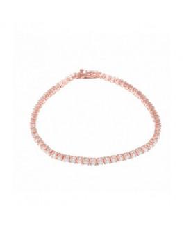 Pulsera Mujer Salvatore Plata IP Rosé Circonitas Medida 18 cm - 103P0025