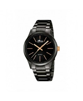 Lotus 18162/2 Reloj Hombre Cuarzo Acero IP Negro Tamaño 42 mm Brazalete - 18162/2