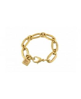 Uno de 50 PUL0949ORO Eslabomba Pulsera de Mujer  Metal Baño de Oro Medida 19 cm - 000500273