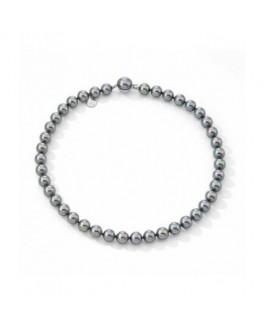 Majorica 09874.03.2.032.010.1 Collar Mujer Plata Perla Gris 10 mm Medida 45 cm - 09874.03.2.032.010.1