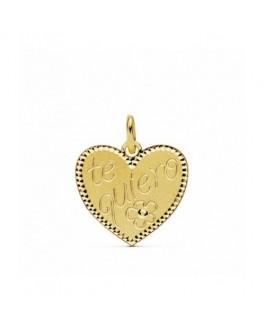 Colgante Mujer Corazón Oro 18 ktes Amor Tamaño 16 x 15 mm - 000150842