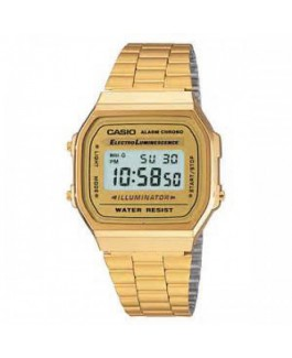 Casio Original A168WG-9EF Reloj Unisex Digital Metal Dorado Tamaño 35 mm - A168WG-9EF