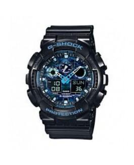 Casio GA-100CB-1AER Reloj de Hombre G-SHOCK Cuarzo digital Silicona negro y azul 60 mm - GA-100CB-1AER