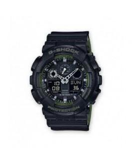Casio GA-100L-1AER Reloj de hombre Cuarzo digital Silicona negro y verde 60 mm - GA-100L-1AER