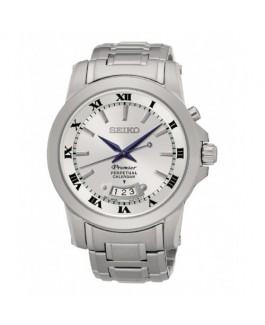 Seiko Premier SNQ145P1 Reloj Hombre Cuarzo Acero Tamaño 42 mm Brazalete - SNQ145P1