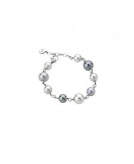 Majorica 12305.10.2.000.010.1 Pulsera Mujer Plata Perlas Multicolor 9 mm, 10 mm y 12 mm Medida 19 cm. - 000450436