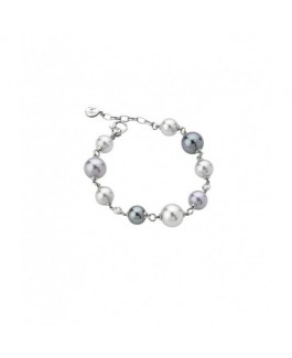 Majorica 12305.10.2.000.010.1 Pulsera Mujer Plata Perlas Multicolor 9 mm, 10 mm y 12 mm Medida 19 cm. - 12305.10.2.000.010.1