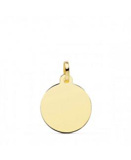 Colgante Mujer Oro 18 ktes Disco Liso Tamaño 14 mm - 000022015