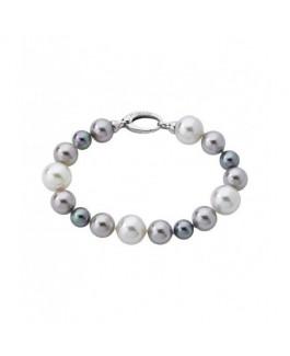 Majorica 12823.21.2.000.010.1 Pulsera Mujer Plata Perlas Colores Tamaño 19 cm - 12823.21.2.000.010.1