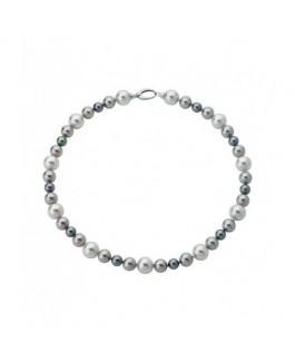 Majorica 12824.21.2.000.010.1 Collar Mujer Plata Perlas 8 mm, 10 mm, 12 mm Medida 45 cm - 000450386
