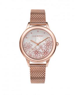 Viceroy 42408-97 Reloj Mujer Cuarzo Acero Rosé Malla Milanesa Tamaño 36 mm - 42408-97