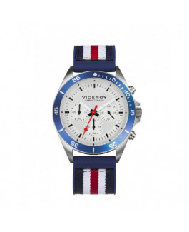 Viceroy 471277-06 Reloj Hombre Cuarzo Crono Acero Caucho Tamaño 42 mm - 471277-06