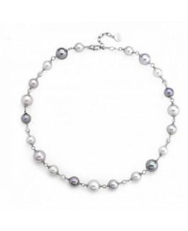Majorica 12306.10.2.000.010.1 Collar Mujer Plata Perlas Circonitas Tamaño 10/12 mm - 12306.10.2.000.010.1