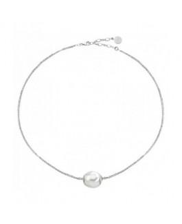 Majorica 15593.01.2.000.010.1 Collar Mujer Plata Medida 36/40 cm Perla 10 mm - 15593.01.2.000.010.1