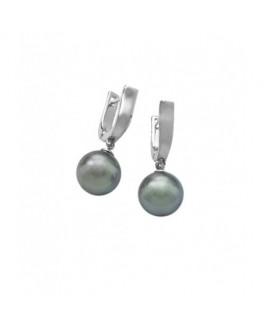 Majorica 11062.03.2.000.010.1 Pendientes Mujer Plata perla Gris Tamaño 10 mm - 11062.03.2.000.010.1
