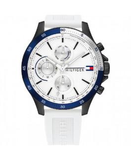 Tommy Hilfiger 1791723 Reloj Hombre Cuarzo Crono Acero Ip Ngro Caucho Tamaño 45 mm - 1791723