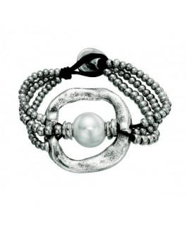 Uno de 50 PUL1130MTLBPL0M De perlas Pulsera de Mujer Baño de plata Talla M - PUL1130MTLBPL0M