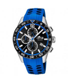 Lotus 18590/2 Reloj Hombre Cuarzo Crono Acero Tamaño 44 mm Caucho Azul - 18590/2