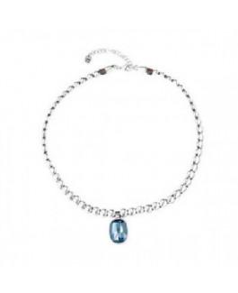 Uno de 50 COL1568AZUMTL0U Magic Pills Collar Mujer Chapado Plata Cristal Swarovski Medida 40/45 cm - 000500660