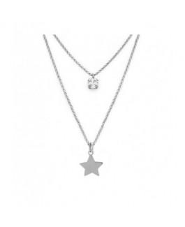 Colgante Doble Mujer Plata Victoria Cruz Estrella Medida 38/46 cm - 000180133