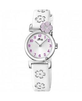 Lotus 18174/3 Reloj Niña Flor Malva Cuarzo Acero Correa Tamaño 24 mm - 18174/3
